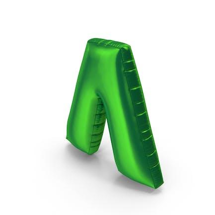 Foil Balloon Circumflex Green