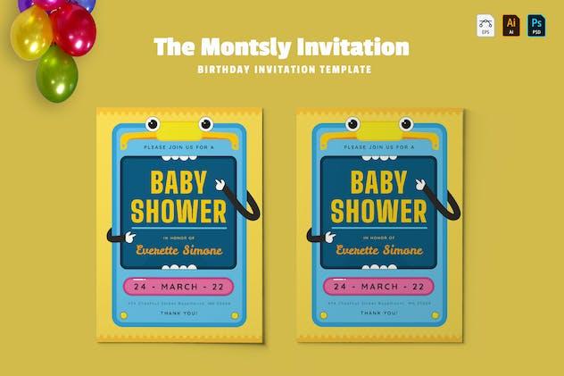 Montsly | Baby Shower Invitation