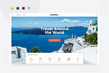 DailyUI.V21 - Travel Tour Booking Website Landing