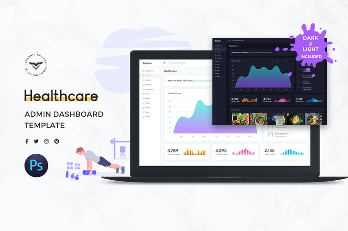 Cover Image For Healthcare Admin Dashboard UI Kit