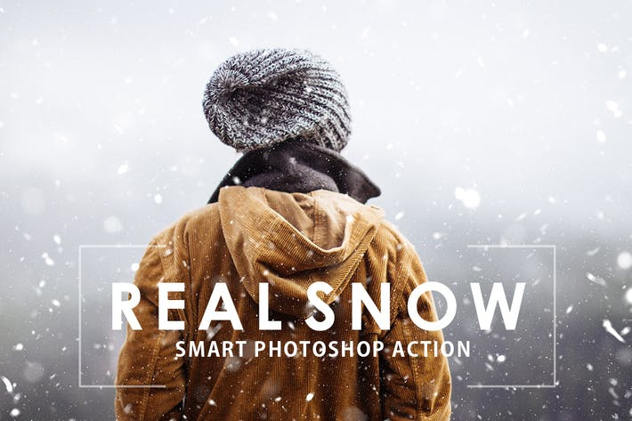 Thumbnail for Real Snow Photoshop Action