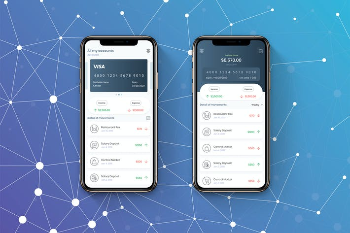 Thumbnail for Mobile Bank Finance UI - H