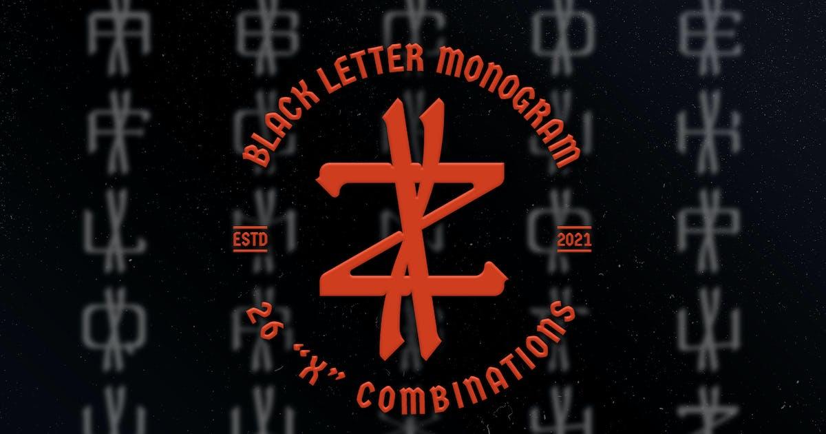 Download X Black Letter Monogram Logo Vol.3 by Farhan_Haikal
