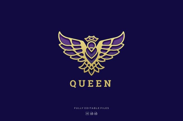 Thumbnail for Luxury Queen Bird Line Art Logo