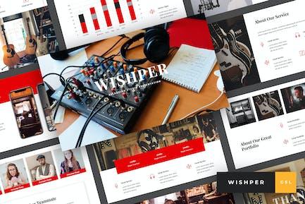 Whisper - Recording Studio Google Slides Template