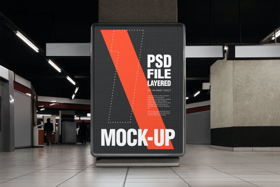 Urban City Street Flyer Poster Mock-up