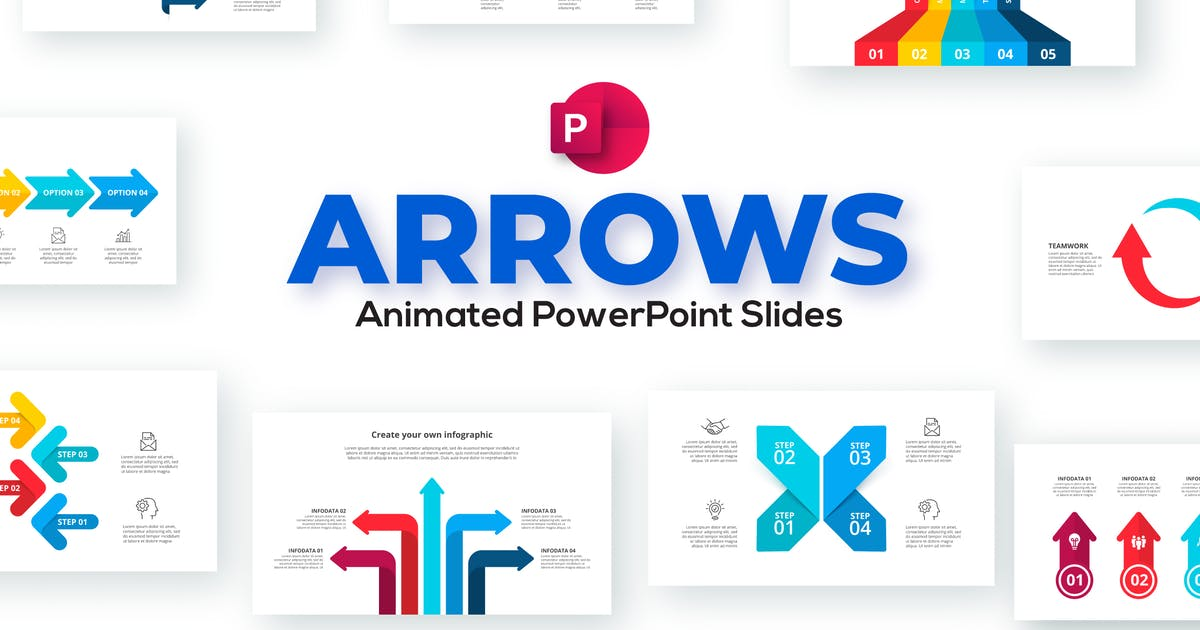 Download Arrows Animated PowerPoint Presentation. Set 01. by Abert84