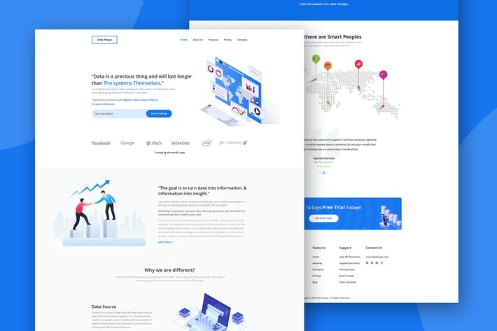 Thumbnail for Web Analytics Landing Page PSD Template