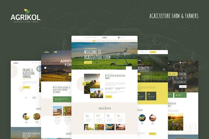 Thumbnail for Agrikol - PSD Template For Agriculture Farm