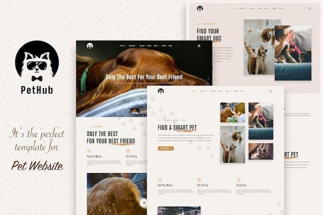 PetHub, Dog, Cat Care & Veterinary Joomla Template