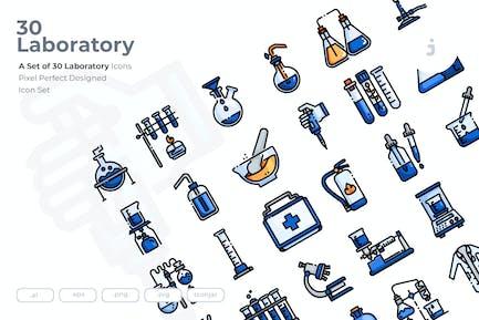 30 Laboratory Icons