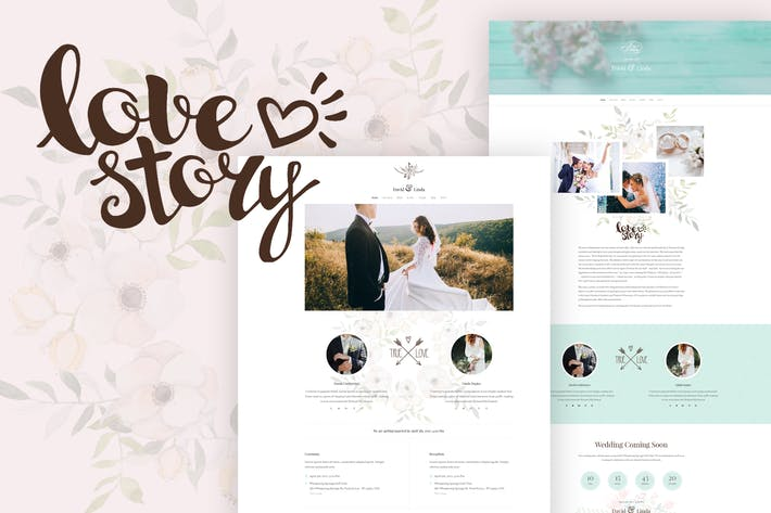 Thumbnail for Wedding Invitation PSD Template