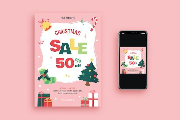 Christmas Sale Flyer + Social Media