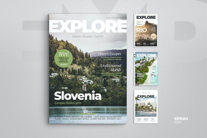 Thumbnail for Explore - Magazine Template