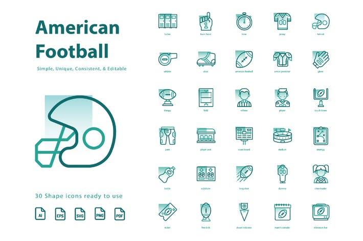 Thumbnail for American Football (Shape)