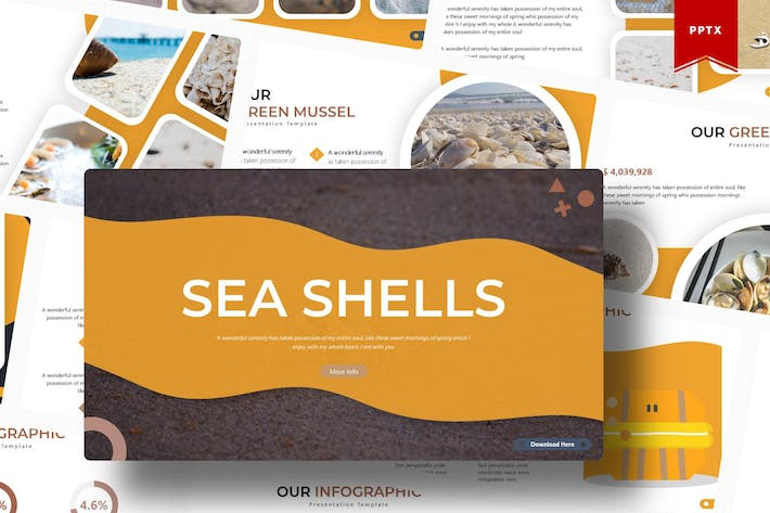 Thumbnail for Sea Shells | Powerpoint Template