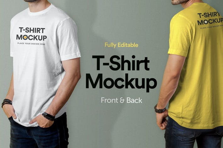 Thumbnail for T-Shirt Mockup - Vol 02