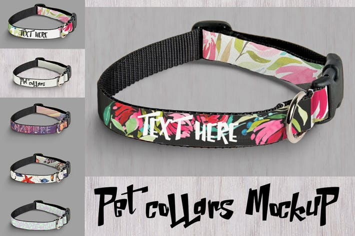 mockup pet collars by a slowik on envato elements