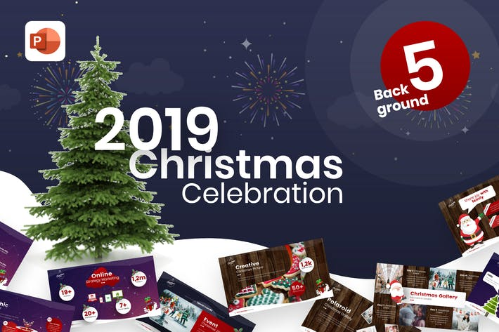 Cover Image For 2019 Christmas Celebration PowerPoint Template