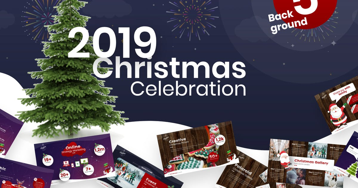 Download 2019 Christmas Celebration PowerPoint Template by BrandEarth