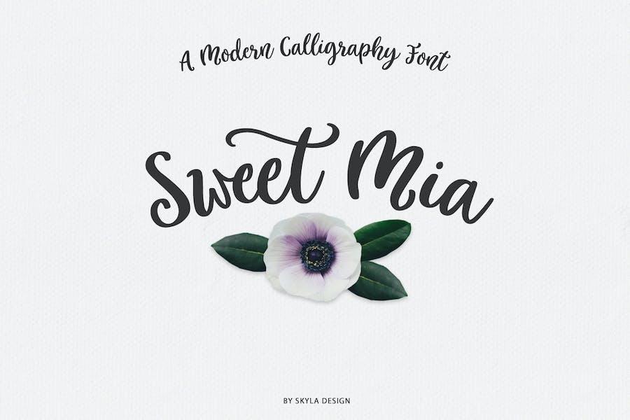 Police de calligraphie moderne, Sweet Mia