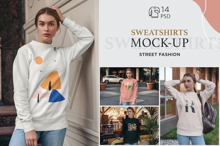 Thumbnail for Sweatshirt Mock-Up Street Fashion
