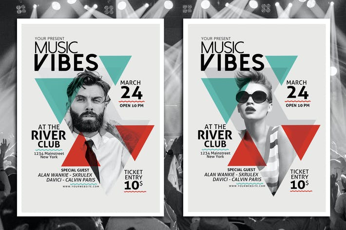 Thumbnail for Minimal Music Flyer Template