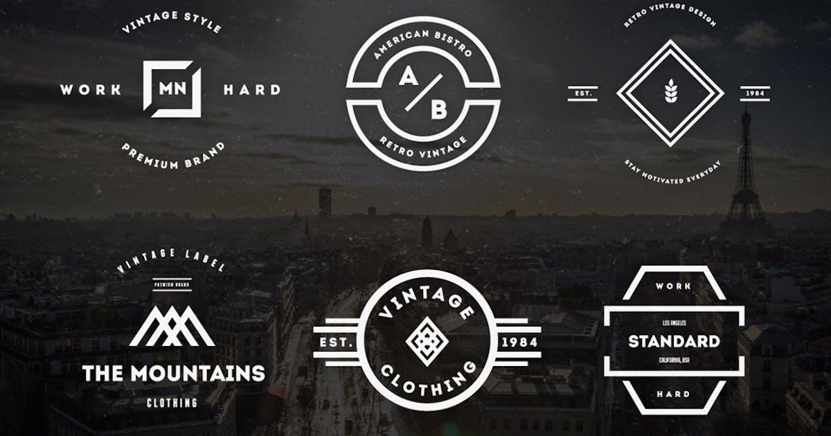 Download Vintage Logos & Badges Vol 22 by designdistrictmx