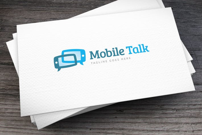 Thumbnail for Mobile Talk Logo Template