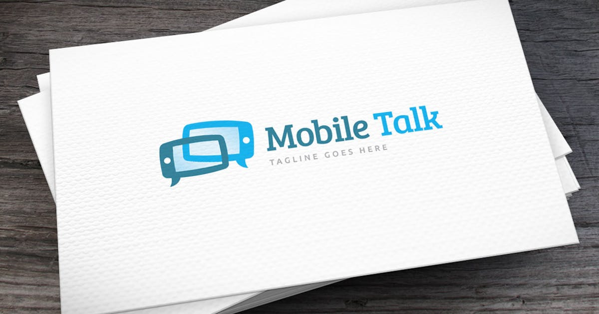 Download Mobile Talk Logo Template by empativo