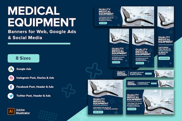 Medical equipment & healthcare machines Banner Ads