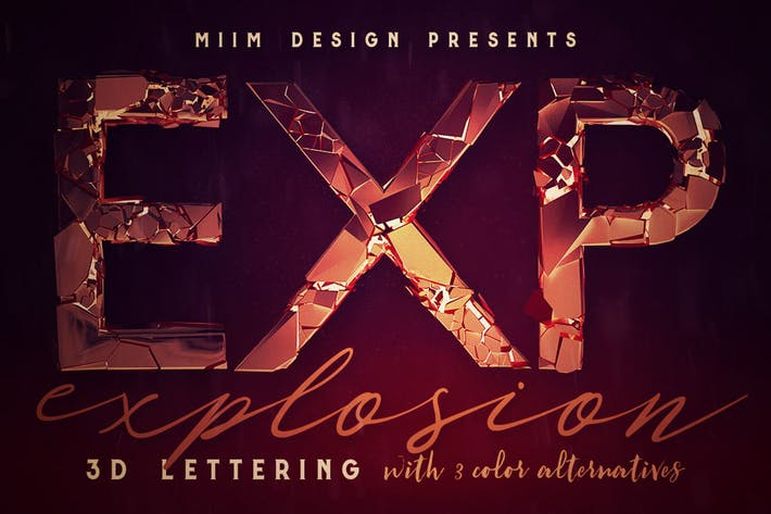 Thumbnail for Explosion - 3D Lettering