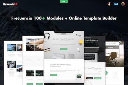 Frecuencia - 100+ Modules - Email + Builder
