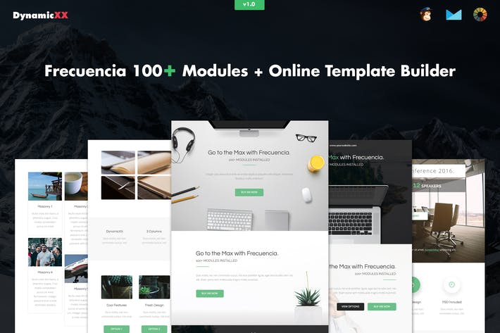Cover Image For Frecuencia - 100+ Modules - Email + Builder