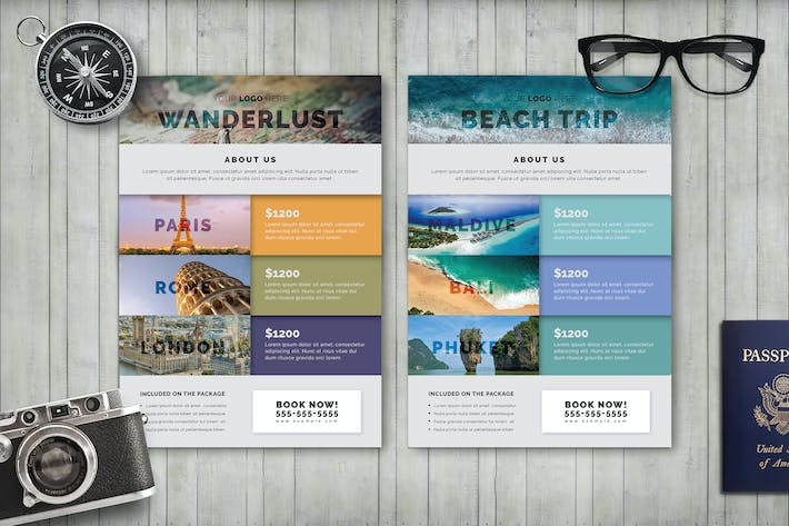 Cover Image For Travel Flyer