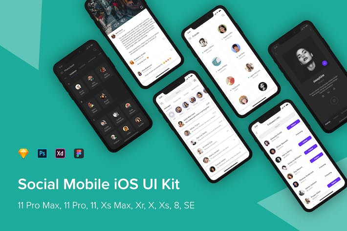 Thumbnail for Social Mobile iOS UI Kit