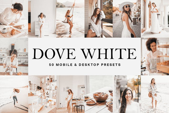 Thumbnail for 50 Dove White Lightroom Presets and LUTs