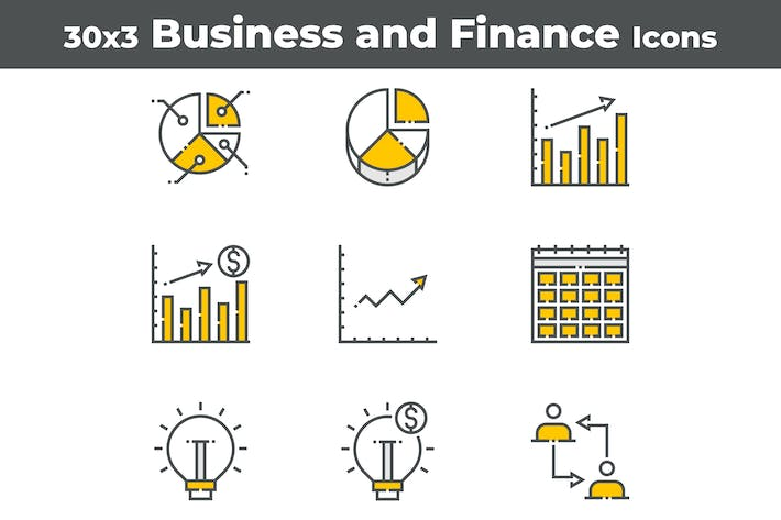 Thumbnail for 30 Business and Finance Icons