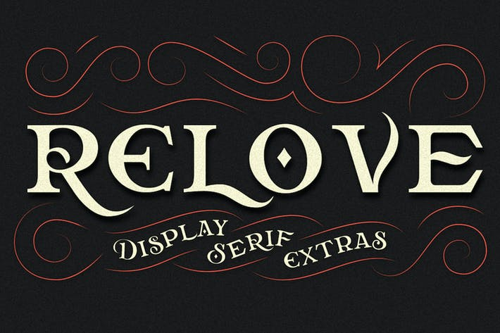 Thumbnail for Relove Typeface + Extras