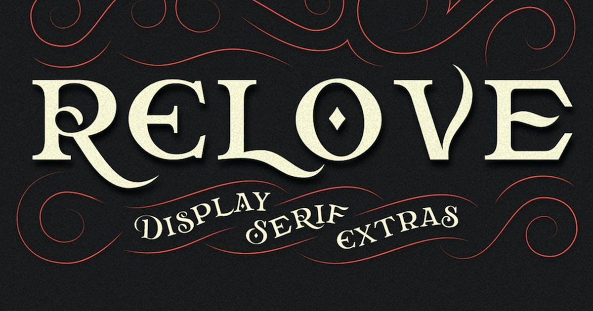 Download Relove Typeface + Extras by jiwstudio