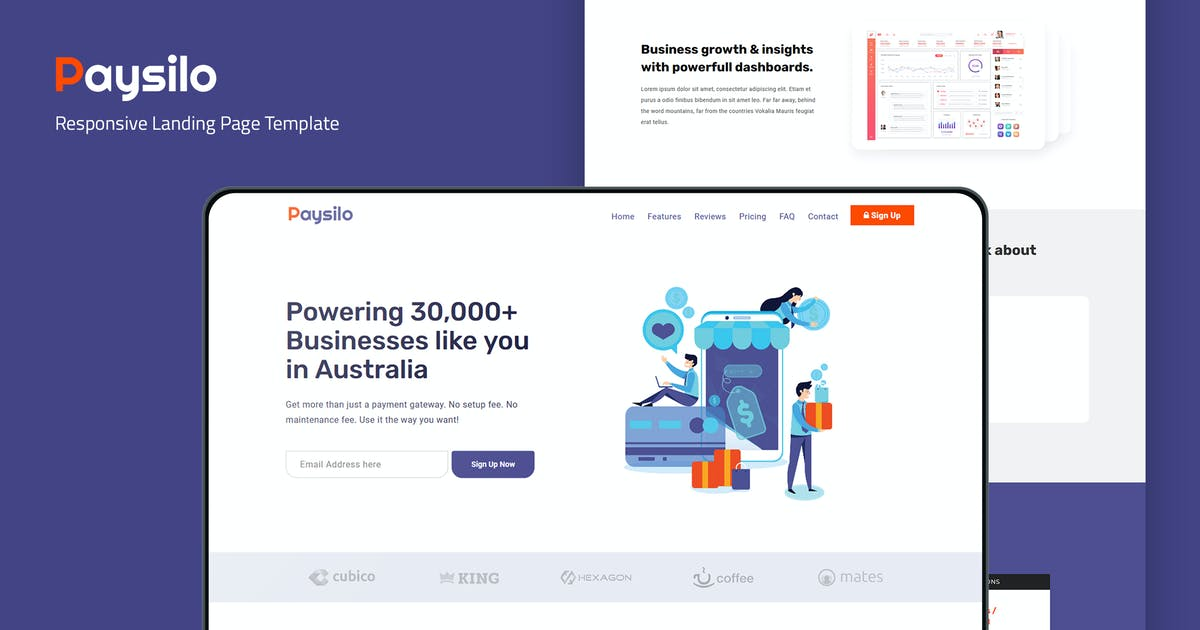 Download Paysilo — Responsive Landing Page Template by thememor