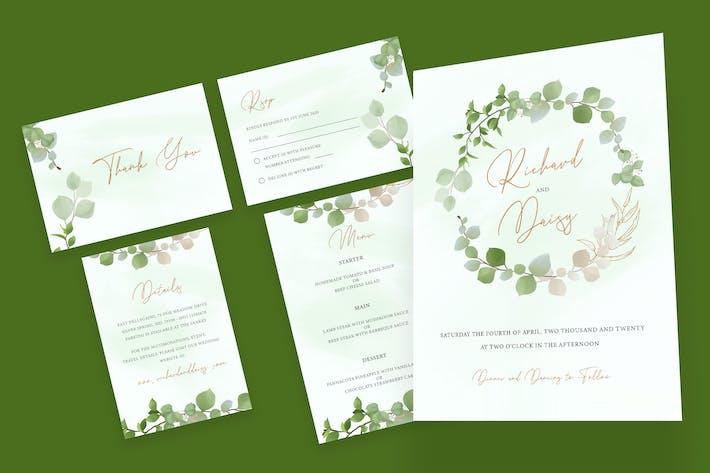 Thumbnail for Botanical Watercolor Wedding Invitation