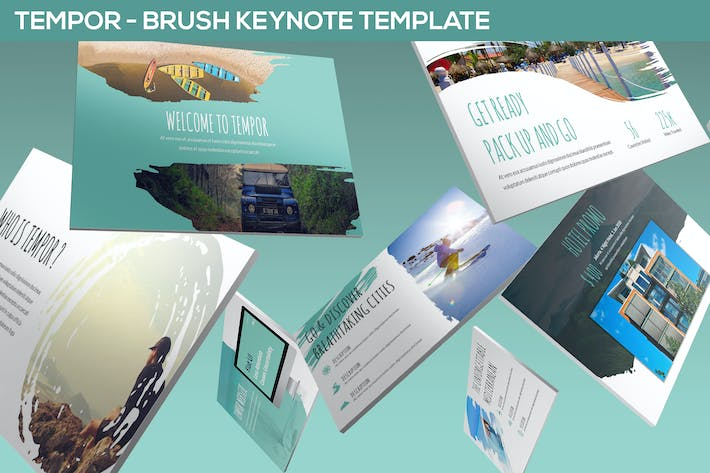 Thumbnail for Tempor - Brush Keynote Template