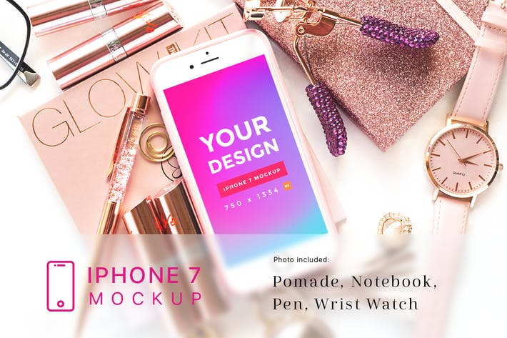 Thumbnail for Beauty and Cosmetic iPhone 7 Mockup