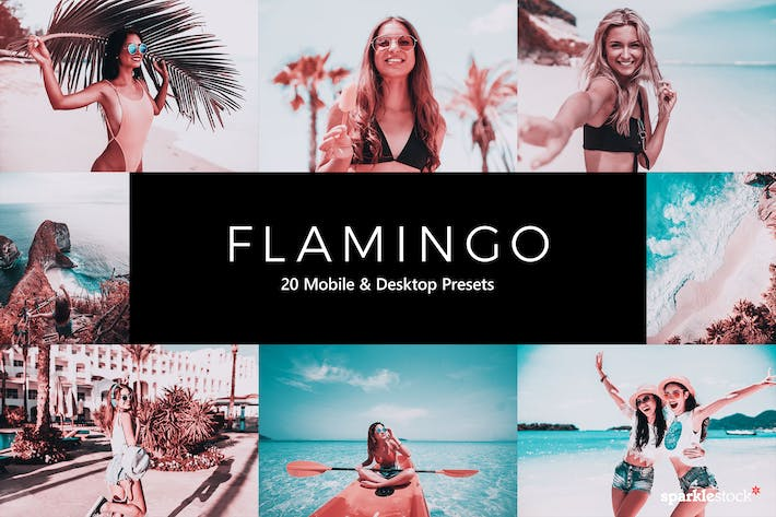 20 Flamingo Lightroom Presets & LUTs