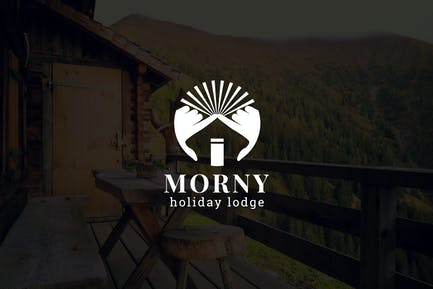 Morny : Negative Space Property Logo