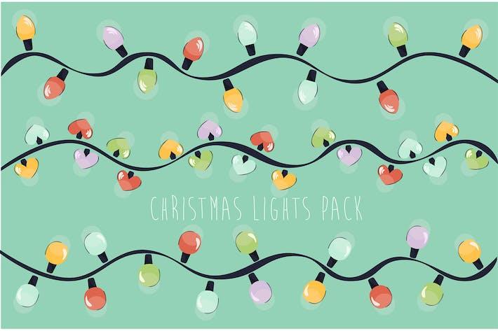 Thumbnail for Christmas Lights Illustration Design Pack