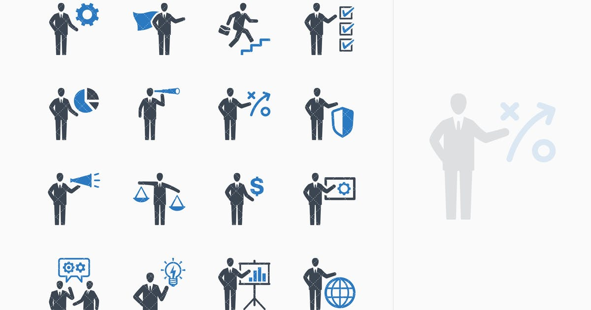 Download Business Management Icons Set 2 - Blue Series by introwiz1