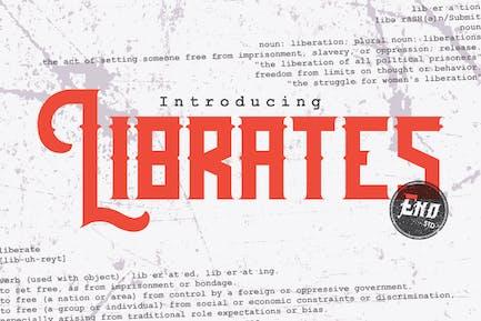 Librates Old | Ephemera Vintage Display Font
