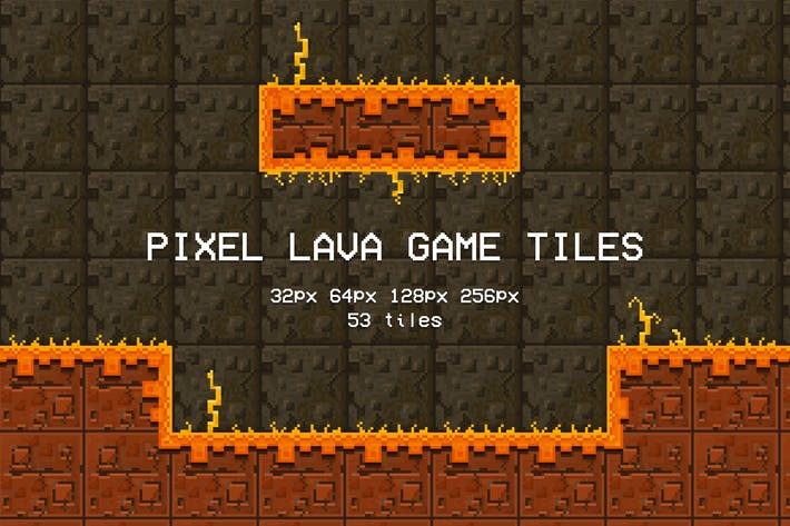 Thumbnail for Pixel Lava Game Tiles